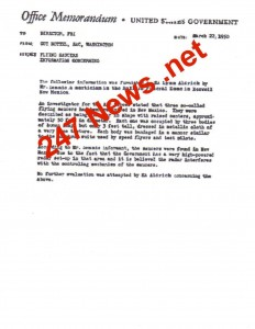 Guy Hottel FBI Roswell Document
