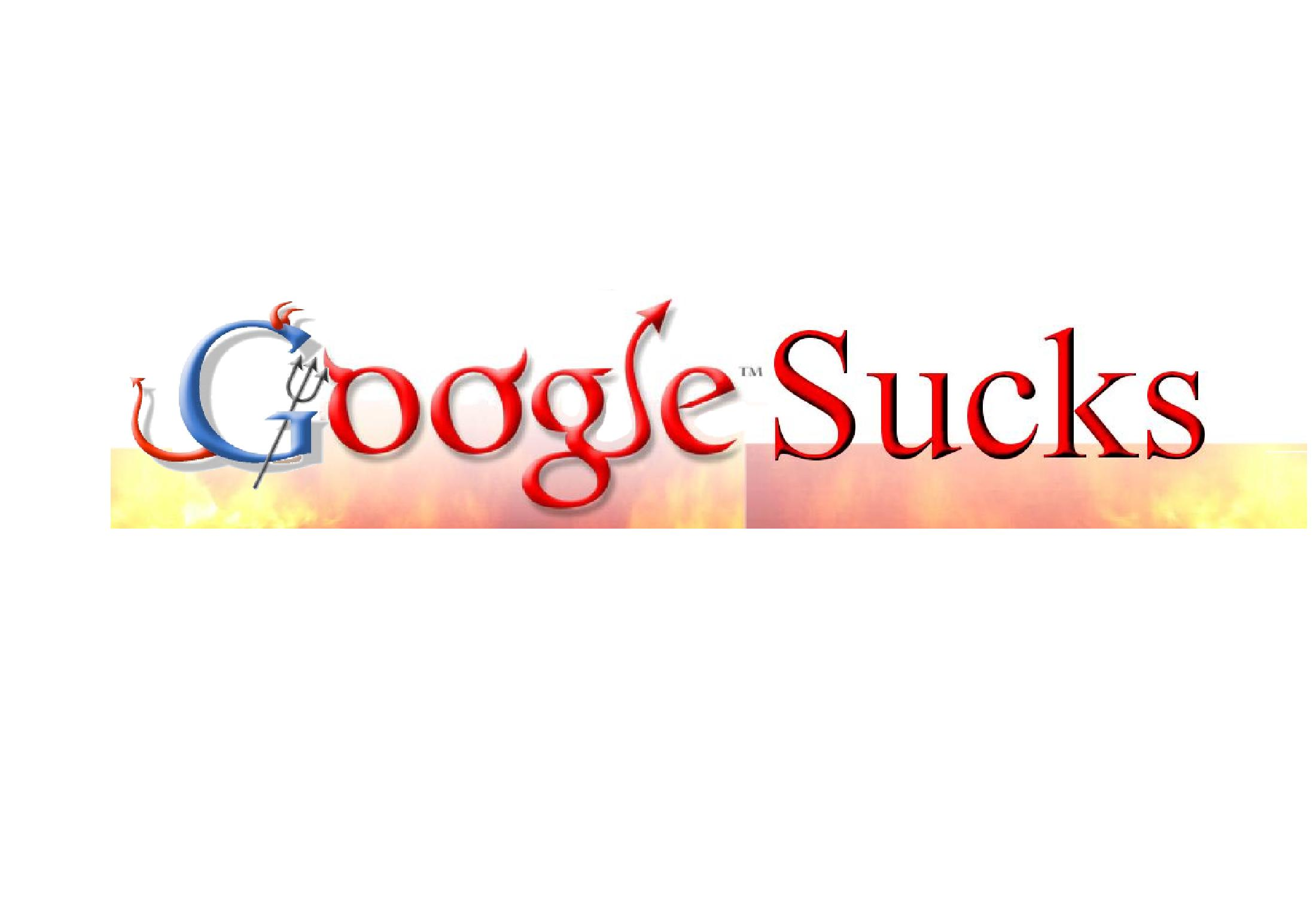 Google Sucks